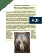 Datos biográficos de don José de San Martín