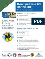 Rock Fishing Safety Sheet