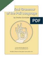 A Practical Grammar of the Pali Language