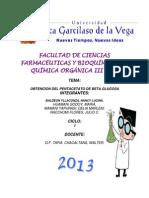 FACULTAD DE CIENCIAS    FARMACÉUTICAS Y BIOQUÍMICA
