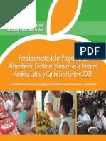 Fortalecimiento de los Programas de Alimentación Escolar
