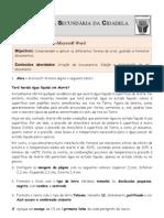 Ficha de Trabalho ITICword_n-1