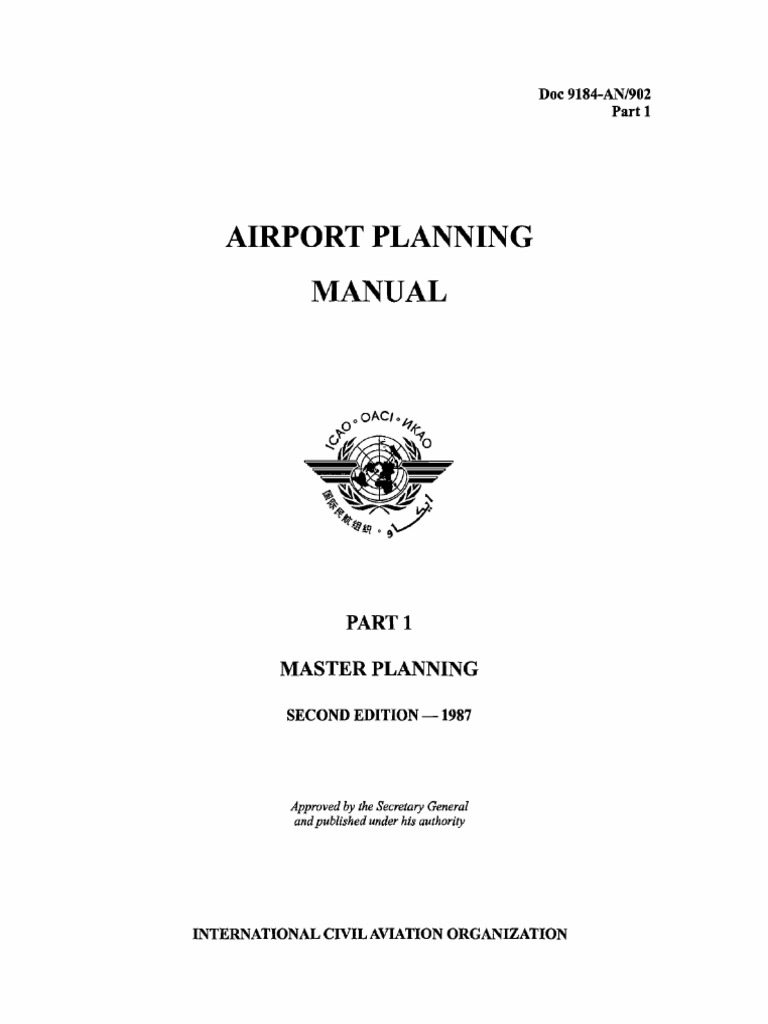 ICAO Doc 9184 Airport Planning Manual Part 1 Master Planning   Airport    Air Traffic Control