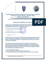 Articles of Conduct Act of 2013