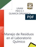 Disposición de Residuos en el Laboratorio de Quimica Organica