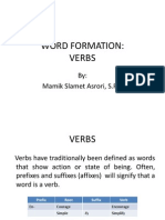 Word Formation - Verb