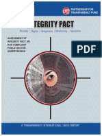 Assessment of Integrity Pact in IP Compliant PSUs