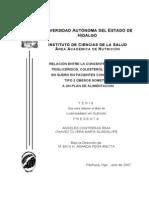 Relacion Entre La Concentracion de Trigliceridos, Colesterol y Leptina.