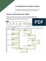 Cómo extraer comentarios de celdas en Excel