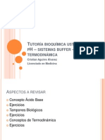 .1 Tutoria Bioquimica UST pH, Buffer y Termodinamica
