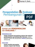 Evaluasi Dan Pengendalian Pembangunan Daerah SN-PFM