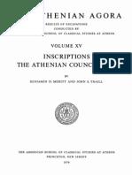Agora Athenei vol 11 Inscriptiile