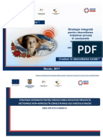 Strategie integrată pentru dezvoltarea iniţiativei private în sectoarele non-agricole în zonele rurale ale judeţului Bacău