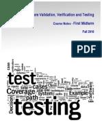 Software Verification, Validation and Testing | ASU 2010