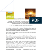 Press Invitation - Bab al Shams Friday prayer at Olives Checkpoint, Az-Zayyem