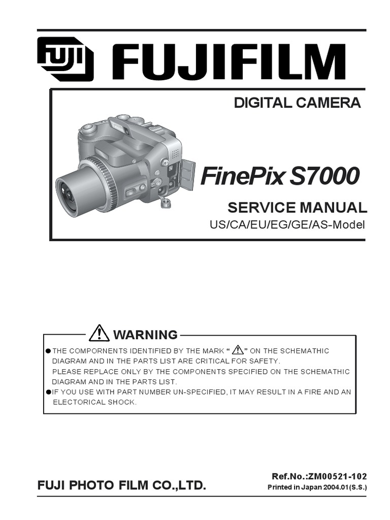 fuji finepix s7000 service manual autofocus pixel rh scribd com Fuji FinePix S7000 FinePix S7000 Battery Cover Replacement
