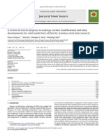A Review of Recent Progress in Coatings, Surface Modifications and Alloy Developments for Solid Oxide Fuel Cell Ferritic Stainless Steel Interconnects Review Article