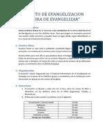 Proyecto de Evangelizacion