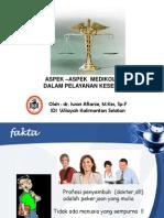 Aspek Medikolegal Dalam Pelayanan Kesehatan