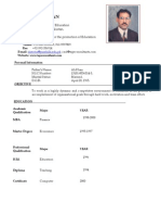 Sajid CV