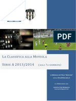 La Classifica Alla Moviola 2013/2014