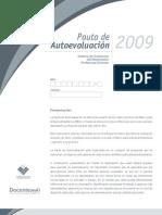 PautadeAutoevaluacion2009