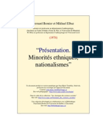 Minorités ethniques, nationalismes