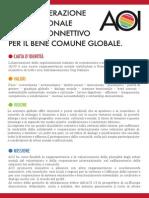 Manifesto AOI - Associazione delle organizzazioni italiane di cooperazione e solidarietà internazionale