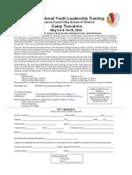 Tuscarora Council NYLT 2014 Flyer