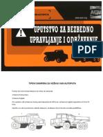 Uputstvo za bezbedno upravljane damperom
