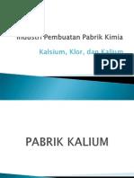 Industri Kalsium,Kalium,Dan Klor