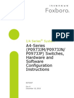 A4-Series Switches, Hardware and Software Configuration Instructions