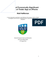 Analysis of Forensic Artifacts of Tinder on iPhone