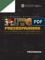 [programa] IV Congreso Congreso de Mitos prehispánicos, Lima UNMSM