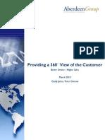 Artigo - Vendas - Aberdeen - Providing a 360 View of the Customer