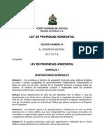 Ley de Propiedad Horizontal - Honduras