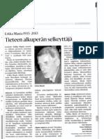 Erkka Maula obituary