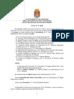Acta Junta Municipal Distrito Beiro Septiembre 2013