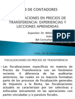 20130926 Milton Alvarez Aguiluz Fiscalizacion Precios de Transferencia