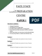 Face2Face 2010 UMAT Paper 1