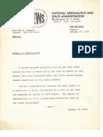 1972 2301 Informare NASA News - Apollo 16 Sub Satellite