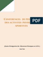 Conférences Pédagogie Activités  Physiques Sportives