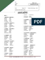 ejerccios de analog+¡as TERCERO  grupo b-2013