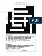 Titanic Crossword 1