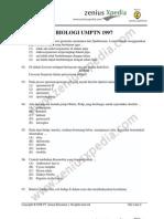 biologi UMPTN 1997