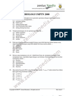 biologi UMPTN 2000