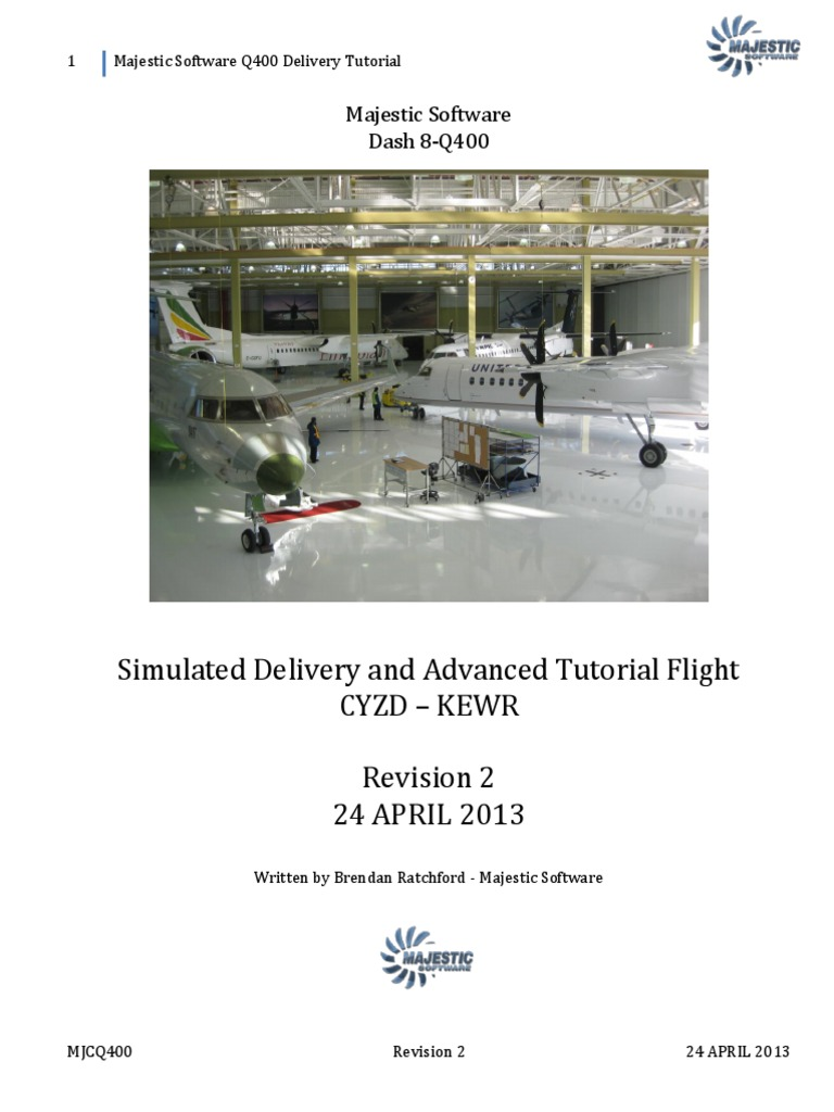 Majestic Software Dash 8 Delivery Flight REV 2   Transponder