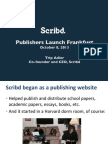 Frankfurt Book Fair, Publishers Launch Presentation, 2013