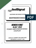 KAC-952 MAINTENANCE MANUAL - 006-05380-0000_0