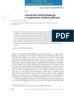 Effects of Unresolved Factual Disputes